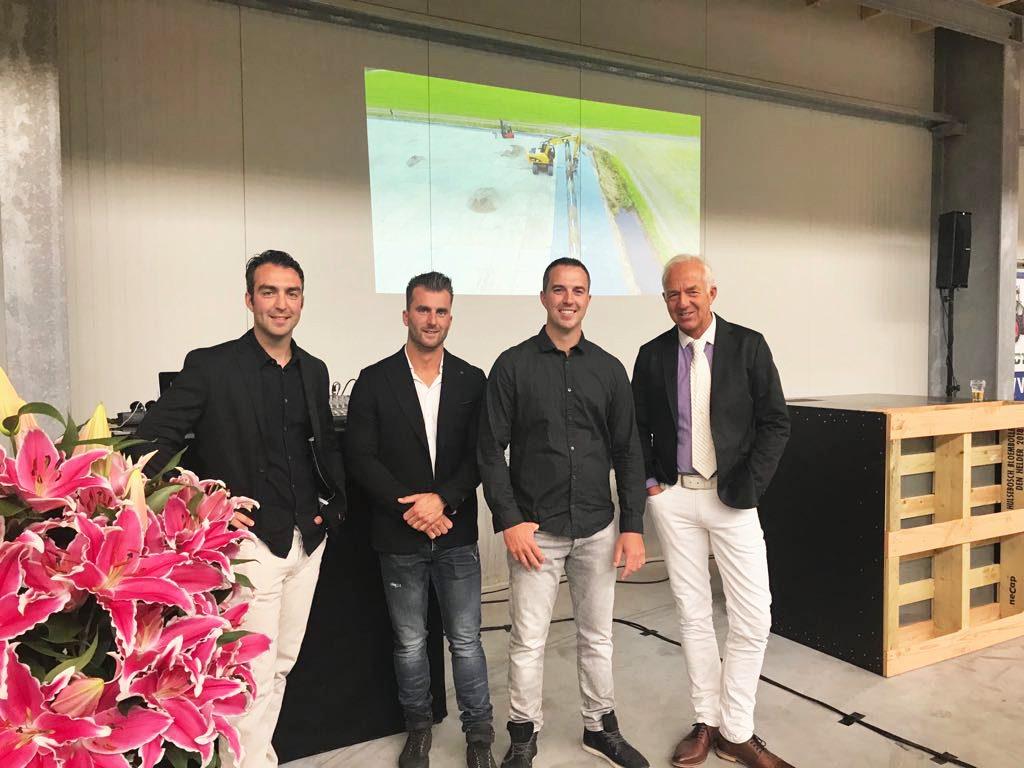 (v.l.n.r.) Ryan, Roy, Roland en Willem Hulsebosch