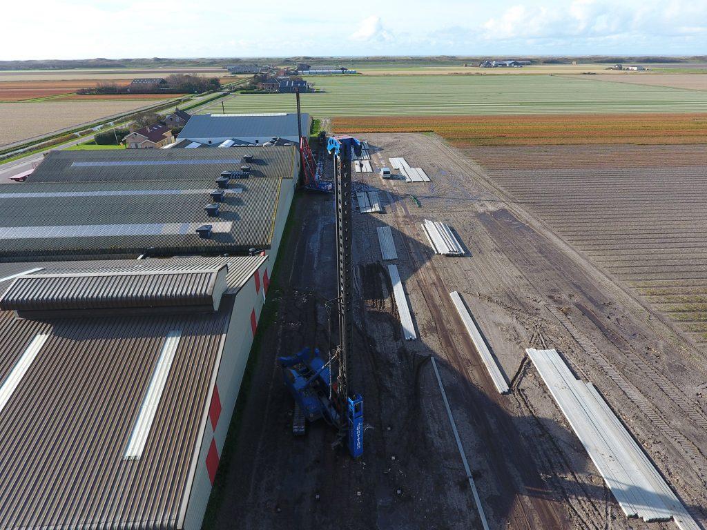 Aanbouw nieuwe schuur bij Hulsebosch Boembollen B.V.